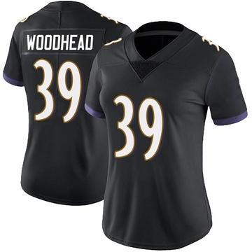 Women's Nike Baltimore Ravens Danny Woodhead Black Alternate Vapor Untouchable Jersey - Limited
