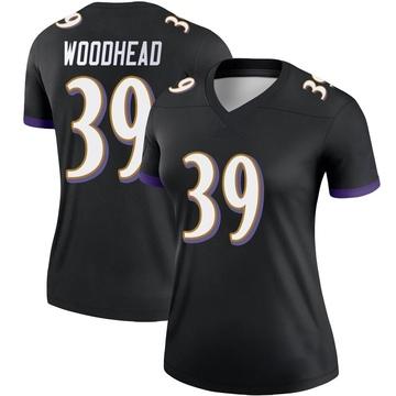Women's Nike Baltimore Ravens Danny Woodhead Black Jersey - Legend
