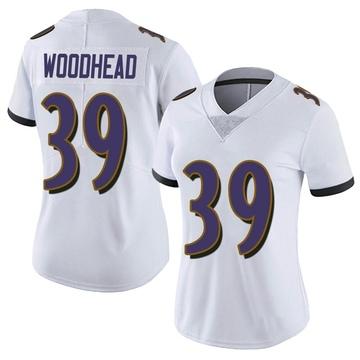 Women's Nike Baltimore Ravens Danny Woodhead White Vapor Untouchable Jersey - Limited