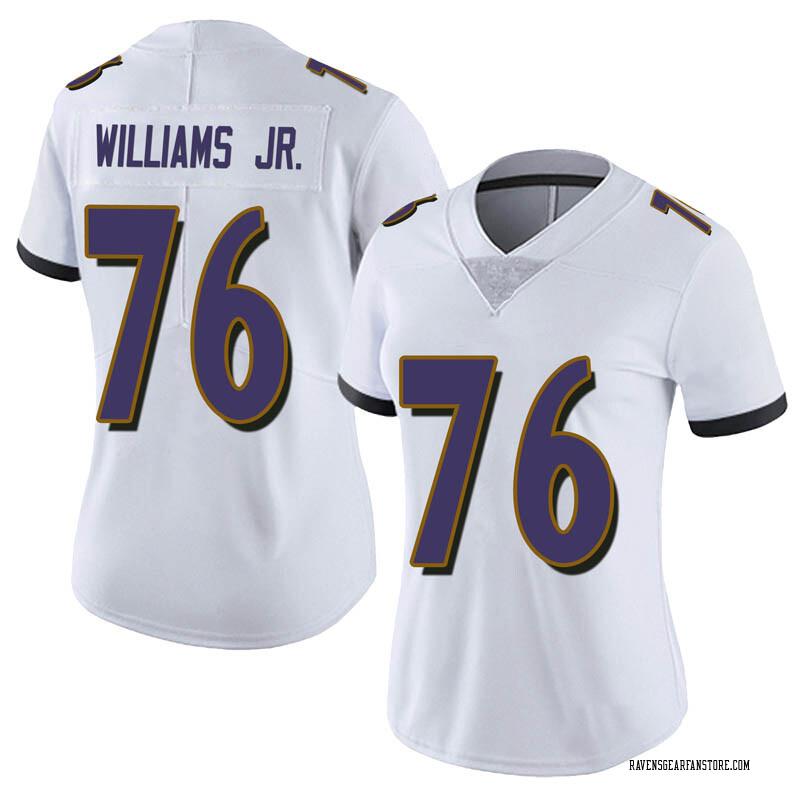 check out 07b90 71696 Women's Nike Baltimore Ravens Darrell Williams Jr. White Vapor Untouchable  Jersey - Limited