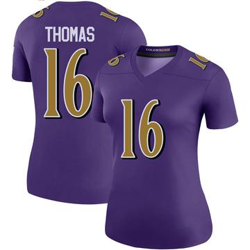 Women's Nike Baltimore Ravens De'Anthony Thomas Purple Color Rush Jersey - Legend