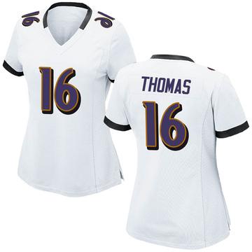 Women's Nike Baltimore Ravens De'Anthony Thomas White Jersey - Game