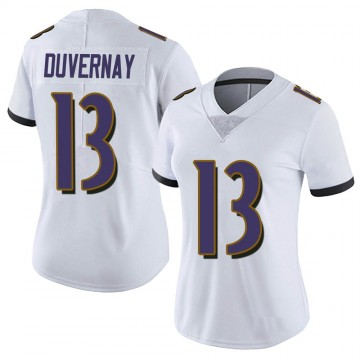 Women's Nike Baltimore Ravens Devin Duvernay White Vapor Untouchable Jersey - Limited