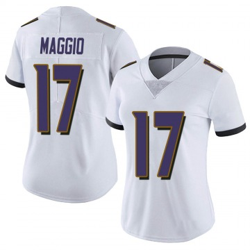 Women's Nike Baltimore Ravens Dom Maggio White Vapor Untouchable Jersey - Limited