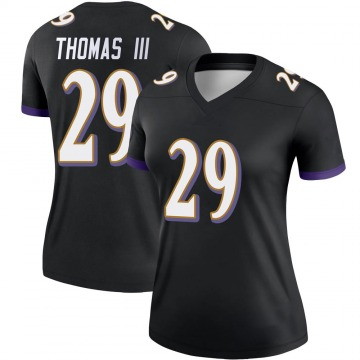 Women's Nike Baltimore Ravens Earl Thomas Black Jersey - Legend