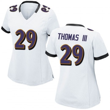 Women's Nike Baltimore Ravens Earl Thomas White Jersey - Game