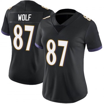 Women's Nike Baltimore Ravens Eli Wolf Black Alternate Vapor Untouchable Jersey - Limited