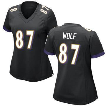 Women's Nike Baltimore Ravens Eli Wolf Black Jersey - Game