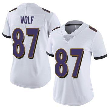 Women's Nike Baltimore Ravens Eli Wolf White Vapor Untouchable Jersey - Limited