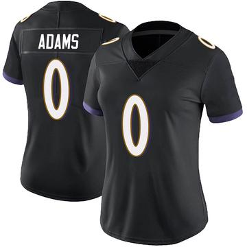 Women's Nike Baltimore Ravens Evan Adams Black Alternate Vapor Untouchable Jersey - Limited