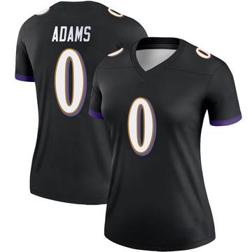 Women's Nike Baltimore Ravens Evan Adams Black Jersey - Legend