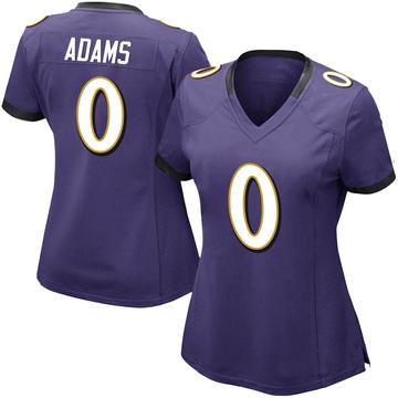 Women's Nike Baltimore Ravens Evan Adams Purple Team Color Vapor Untouchable Jersey - Limited