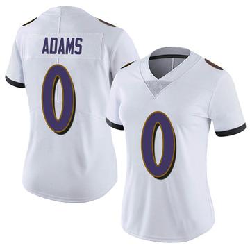 Women's Nike Baltimore Ravens Evan Adams White Vapor Untouchable Jersey - Limited