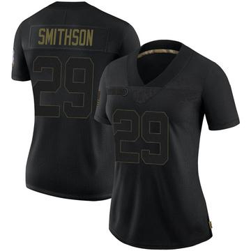 Women's Nike Baltimore Ravens Fish Smithson Black 2020 Salute To Service Jersey - Limited