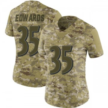Women's Nike Baltimore Ravens Gus Edwards Camo 2018 Salute to Service Jersey - Limited