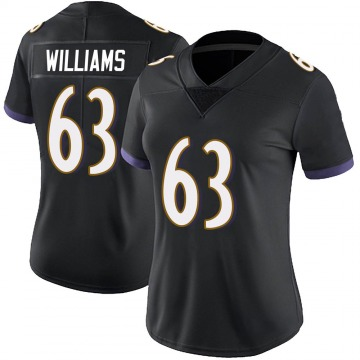 Women's Nike Baltimore Ravens Isaiah Williams Black Alternate Vapor Untouchable Jersey - Limited