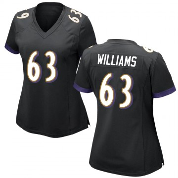 Women's Nike Baltimore Ravens Isaiah Williams Black Jersey - Game