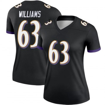Women's Nike Baltimore Ravens Isaiah Williams Black Jersey - Legend