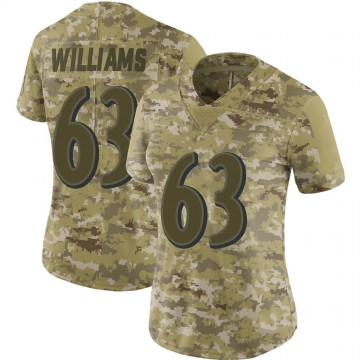 Women's Nike Baltimore Ravens Isaiah Williams Camo 2018 Salute to Service Jersey - Limited