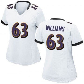 Women's Nike Baltimore Ravens Isaiah Williams White Jersey - Game