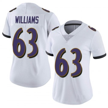 Women's Nike Baltimore Ravens Isaiah Williams White Vapor Untouchable Jersey - Limited