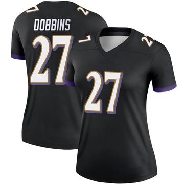 Women's Nike Baltimore Ravens J.K. Dobbins Black Jersey - Legend