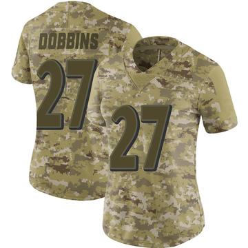 Women's Nike Baltimore Ravens J.K. Dobbins Camo 2018 Salute to Service Jersey - Limited