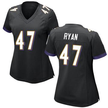 Women's Nike Baltimore Ravens Jake Ryan Black Jersey - Game