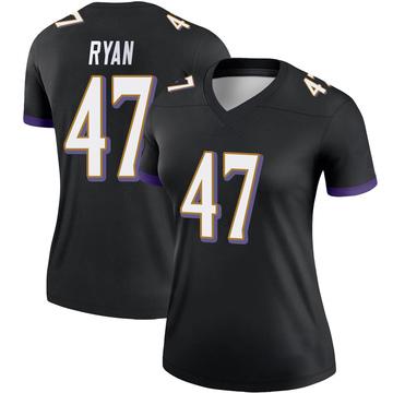 Women's Nike Baltimore Ravens Jake Ryan Black Jersey - Legend