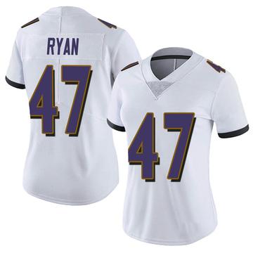 Women's Nike Baltimore Ravens Jake Ryan White Vapor Untouchable Jersey - Limited