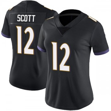 Women's Nike Baltimore Ravens Jaleel Scott Black Alternate Vapor Untouchable Jersey - Limited