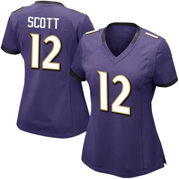 Women's Nike Baltimore Ravens Jaleel Scott Purple Team Color Vapor Untouchable Jersey - Limited