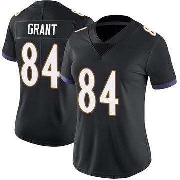 Women's Nike Baltimore Ravens Janarion Grant Black Alternate Vapor Untouchable Jersey - Limited
