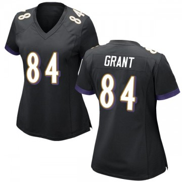 Women's Nike Baltimore Ravens Janarion Grant Black Jersey - Game