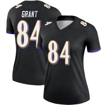 Women's Nike Baltimore Ravens Janarion Grant Black Jersey - Legend