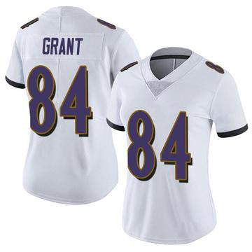 Women's Nike Baltimore Ravens Janarion Grant White Vapor Untouchable Jersey - Limited