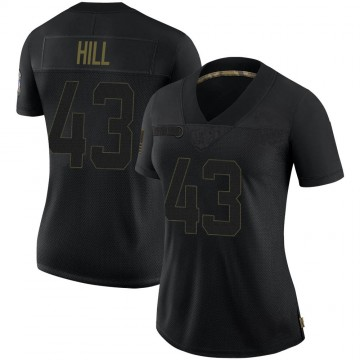 Women's Nike Baltimore Ravens Jaylen Hill Black 2020 Salute To Service Jersey - Limited