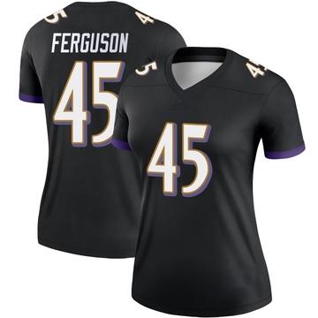 Women's Nike Baltimore Ravens Jaylon Ferguson Black Jersey - Legend