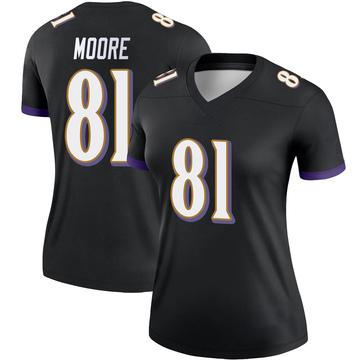 Women's Nike Baltimore Ravens Jaylon Moore Black Jersey - Legend