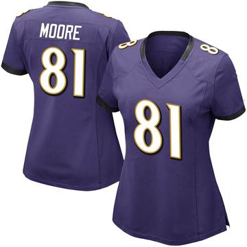 Women's Nike Baltimore Ravens Jaylon Moore Purple Team Color Vapor Untouchable Jersey - Limited