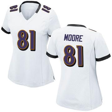Women's Nike Baltimore Ravens Jaylon Moore White Jersey - Game