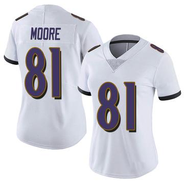 Women's Nike Baltimore Ravens Jaylon Moore White Vapor Untouchable Jersey - Limited