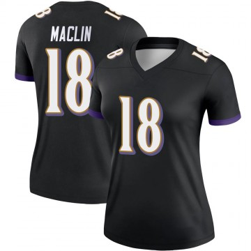 Women's Nike Baltimore Ravens Jeremy Maclin Black Jersey - Legend