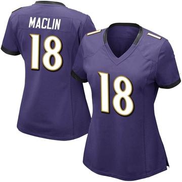 Women's Nike Baltimore Ravens Jeremy Maclin Purple Team Color Vapor Untouchable Jersey - Limited