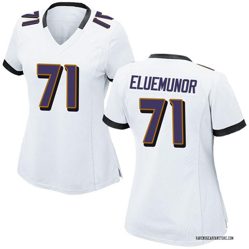 outlet store 03e5c 87691 Women's Nike Baltimore Ravens Jermaine Eluemunor White Jersey - Game