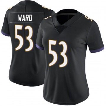 Women's Nike Baltimore Ravens Jihad Ward Black Alternate Vapor Untouchable Jersey - Limited