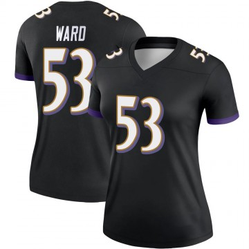 Women's Nike Baltimore Ravens Jihad Ward Black Jersey - Legend