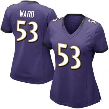 Women's Nike Baltimore Ravens Jihad Ward Purple Team Color Vapor Untouchable Jersey - Limited