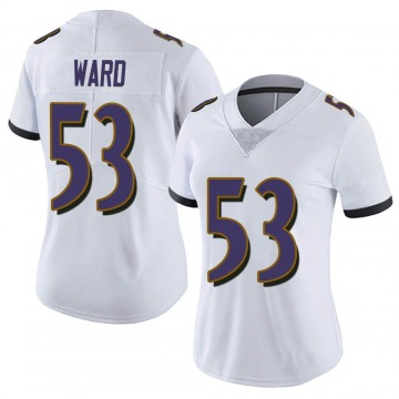 Women's Nike Baltimore Ravens Jihad Ward White Vapor Untouchable Jersey - Limited