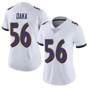 Women's Nike Baltimore Ravens John Daka White Vapor Untouchable Jersey - Limited